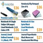 Livescribe Notebook Flip Notepad Notebooks Lined Unlined Paperblanks Moroccan Handtooled Mini Wrap