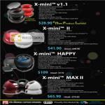 X Mini V1 1 II Happy MAX II Speakers