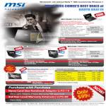 MSI Notebooks FX400 FX600 X360 X400 7300 Wind Top AE2220 Trade In