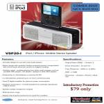 VSP20 I IPod IPhone Mobile Stereo Speaker