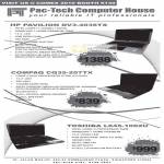 Notebooks HP Pavilion DV3 4036TX Compaq CQ35 207TX Toshiba L645 1002U