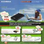 Edimax 3G 6210n Portable Router Battery EW 7811Un Adapter IC 7000PTn 3010WG IPCam AR 7266WnA