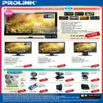 Fida Intl Prolink LCD TV Monitor PRO2215TW PRO2212W PRO1912W PRO160W Webcam Night Vision Auto Focus
