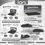 ION Gemini Portable DVD Player 7500 Multi Drive External DVD Writer 9500 Media Player