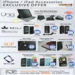 Uniq IPad Sliq MiLi SGP Enterprise Skin Guard Power Spring Miracle CapDase Softjacket Xpose Privacy Guart IPhone 4