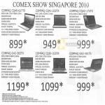 Notebooks Compaq CQ40 617TX CQ41 222TX CQ42 174TX G42 362TX CQ20 315TX 351TX