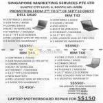 Notebooks Dell D610 IBM T42 T43 T60