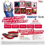 Mio TV Sports Movies Asian TV Stadium ESPN Star Colombo Twin Dect Phone