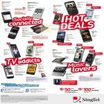 Singtel Mobile Phones BlackBerry Storm2 Sony Ericsson HTC Samsung LG Nokia N97 Xperia
