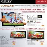 Bravia 3D HDTV NX Series NX710 BX Series BX300 BX400
