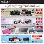 Sony Handycam Cybershot Alpha A33 NEX 3 A33L T99 CX150 NEX3K NEX3D