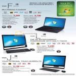 Vaio Notebooks F VPCF127HG VPCF116FG L Desktop PC VPCL138FG J Series VPCJ118FG