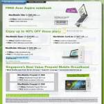 Starhub Acer Aspire Notebook Acer Aspire Timeline MaxMobile Elite Basic Surflite E1820 E1550 E1750 Prepaid Mobile Broadband