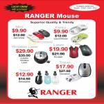 System Tech Ranger Mouse Mini Fancy Wireless Laser Travel Retractable