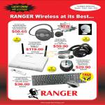 System Tech Ranger Wireless Headphone Symphony 380 Bluetooth 988 Router Adapter Laser Mouse Keyboard