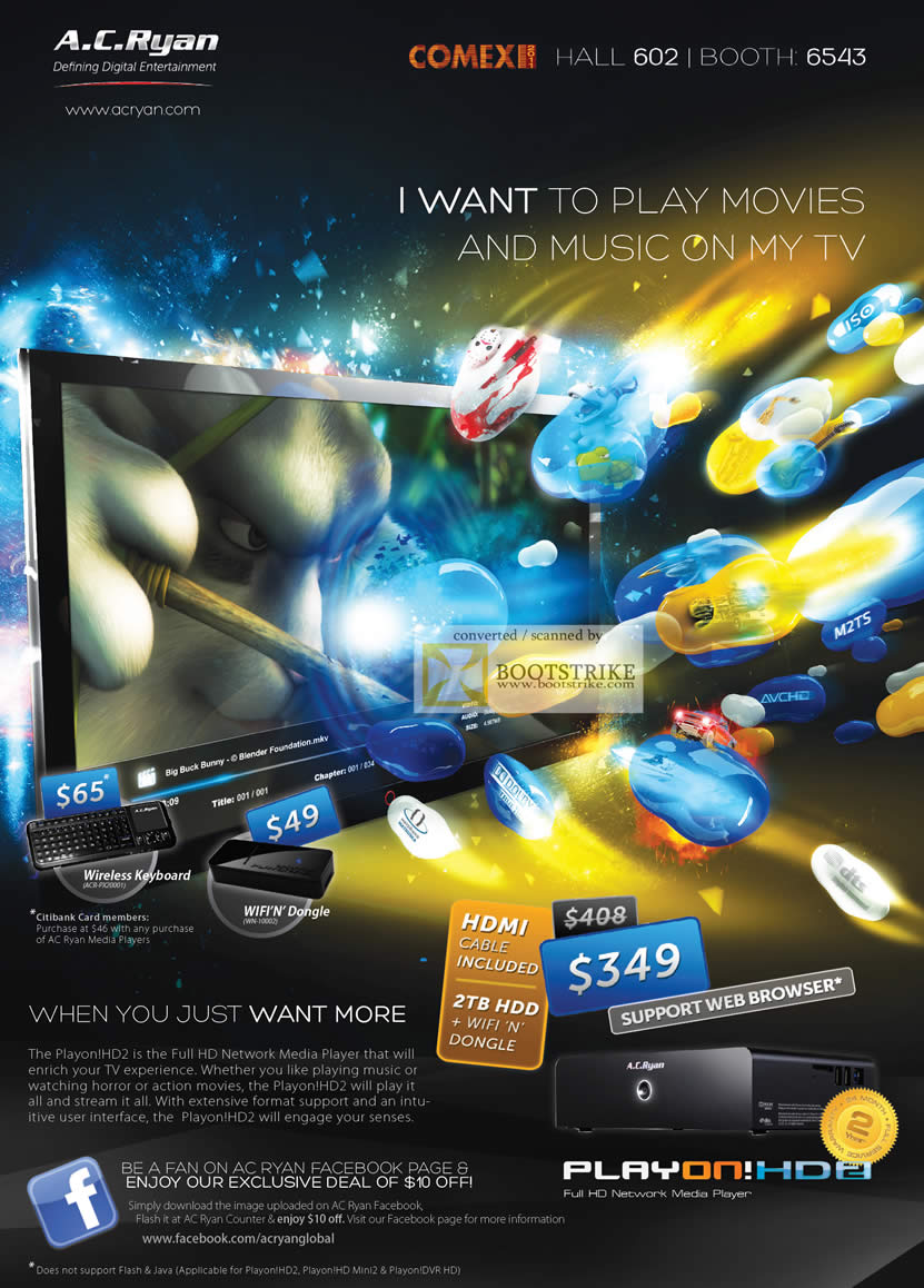 COMEX 2011 price list image brochure of AC Ryan Play On HD2 Media Player