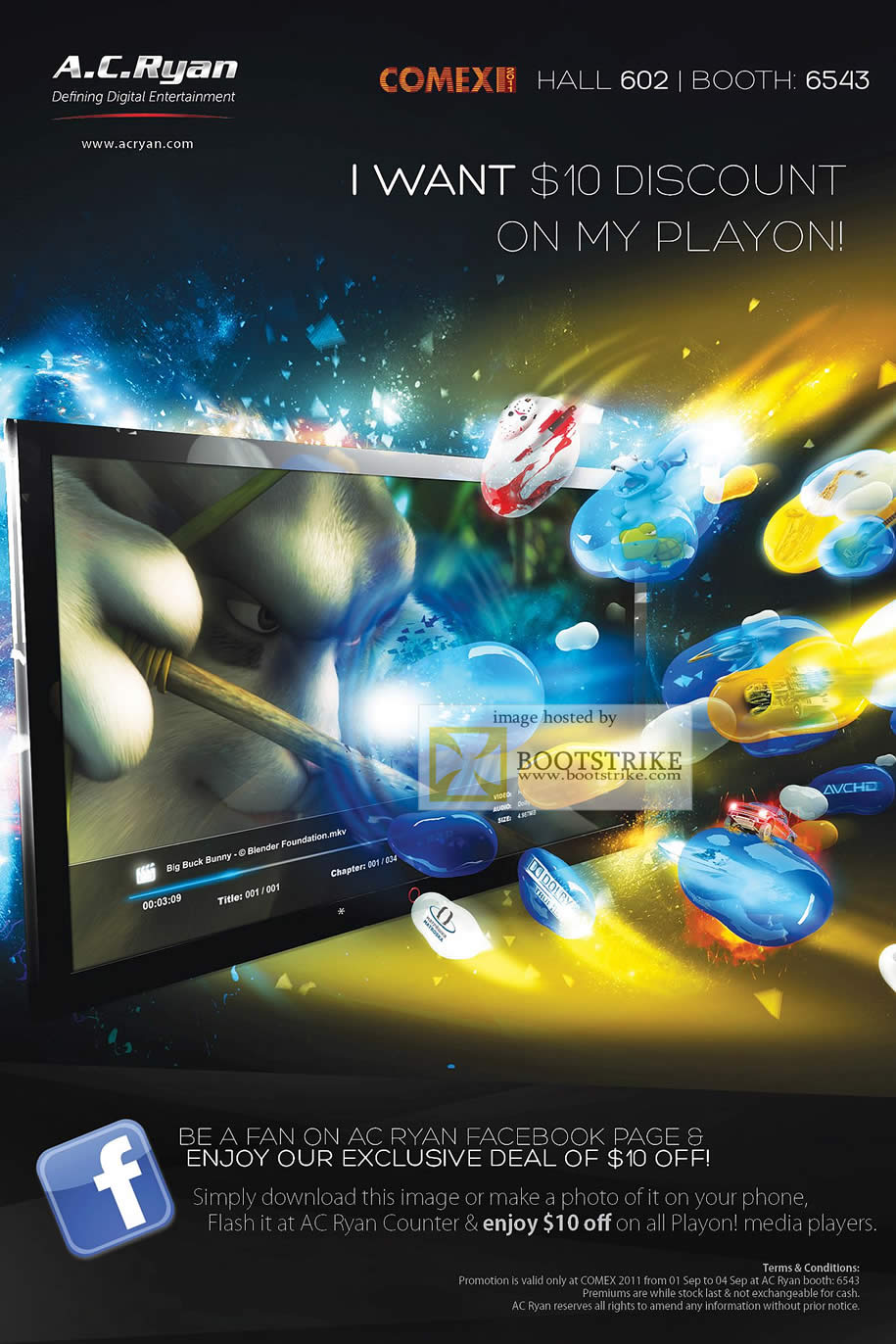 COMEX 2011 price list image brochure of AC Ryan PlayOn 10 Dollar Discount Media Player