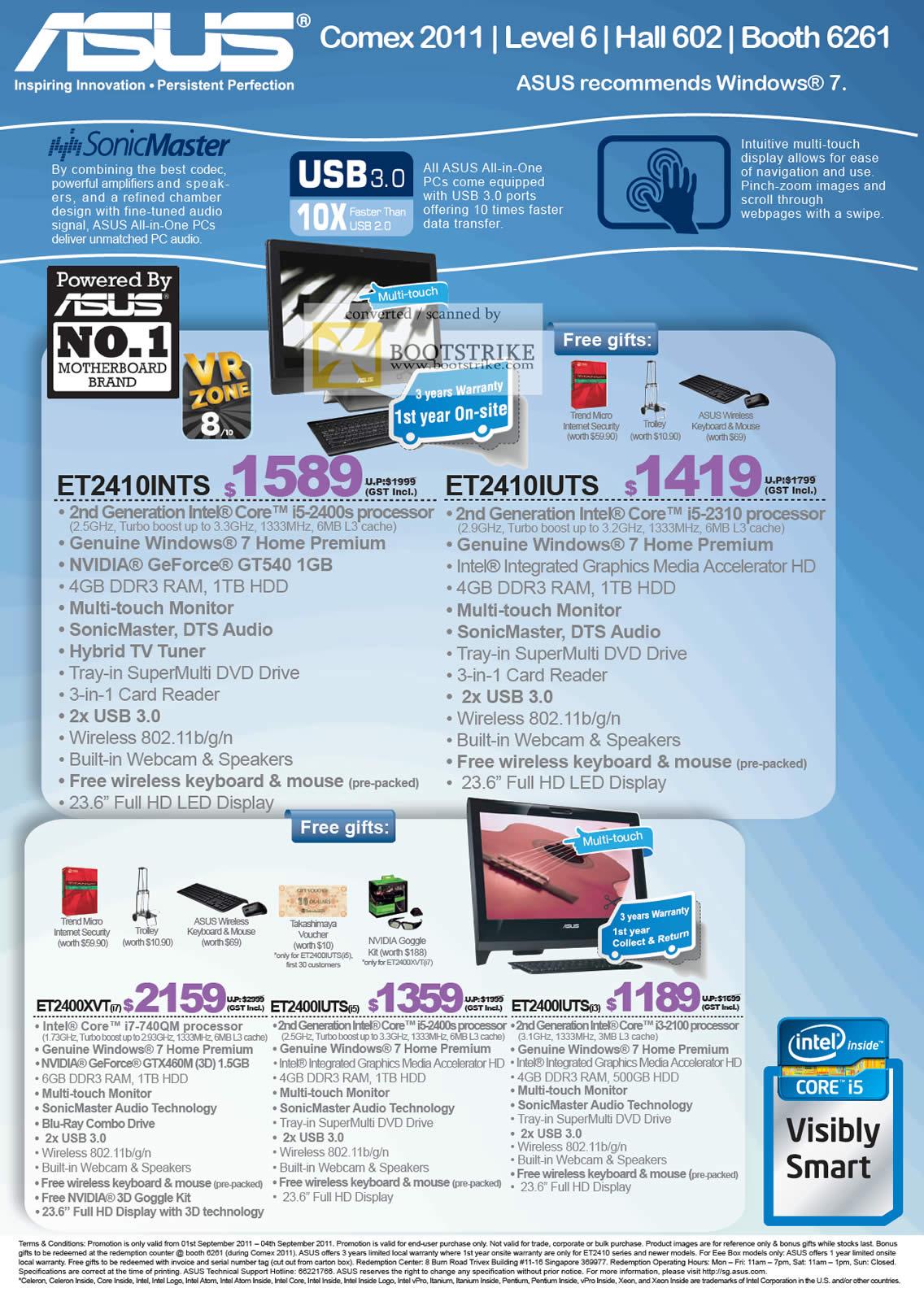 COMEX 2011 price list image brochure of ASUS Desktop PC AIO ET2410INTS ET2410IUTS ET2400XVT ET2400IUTS