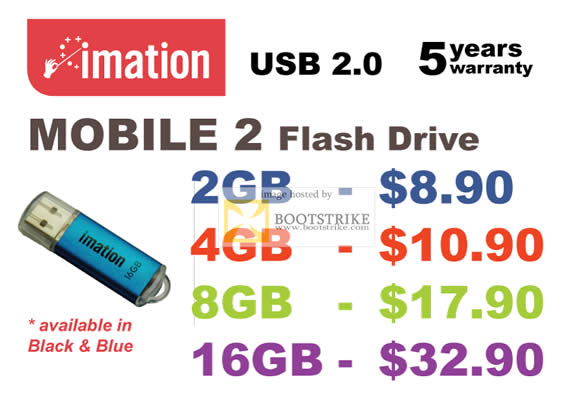 COMEX 2011 price list image brochure of Convergent Imation Mobile 2 Flash Drive