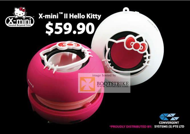 COMEX 2011 price list image brochure of Convergent X-Mini II Hello Kitty