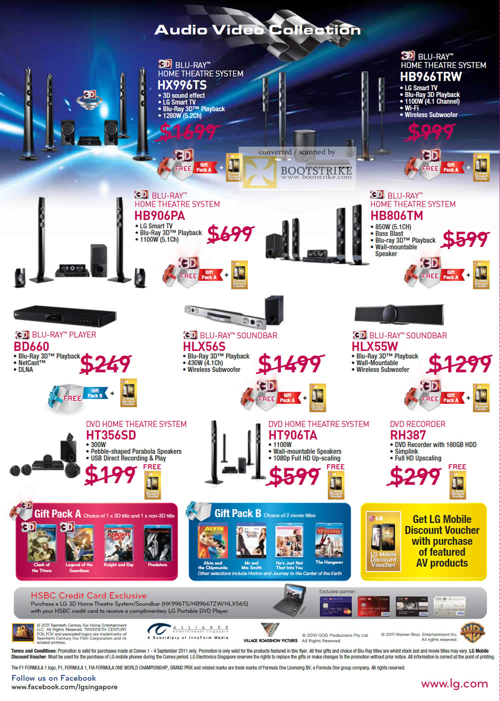COMEX 2011 price list image brochure of LG Home Theatre System HX996TX HB977TRW HB906PA HB806TM BD660 HLX56S HLX55W HT356SD HT906TA RH387 DV Recorder Blu-Ray Player DVD