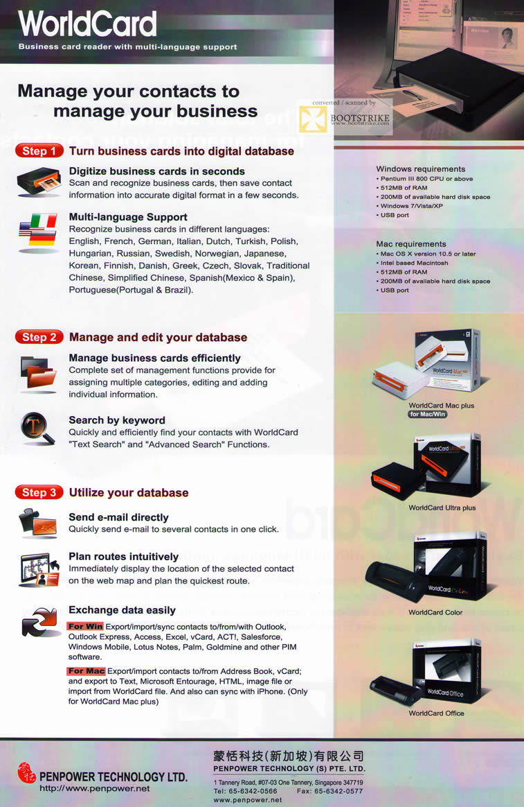 Penpower worldcard business card reader features requirements comex comex 2011 price list image brochure of penpower worldcard business card reader features requirements reheart Image collections