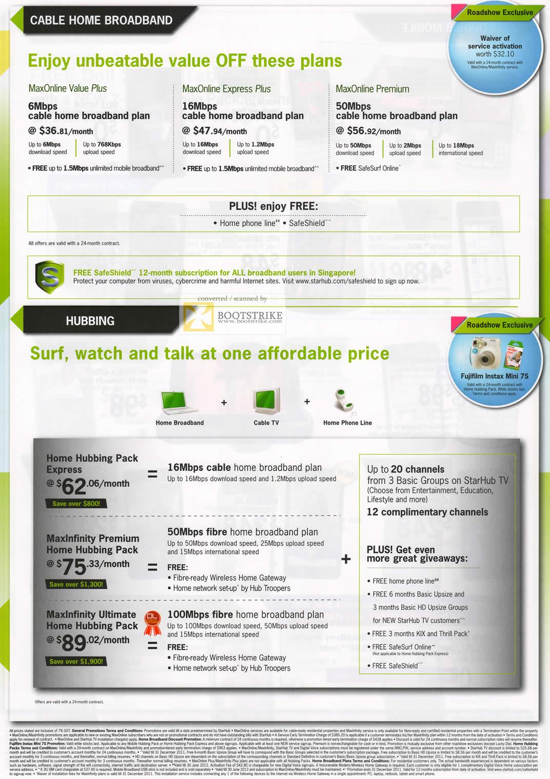 nice starhub home broadband plan. COMEX 2011 price list image brochure of Starhub Cable Home Broadband  MaxOnline Value Plus Express Premium