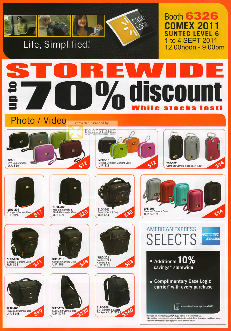 COMEX 2011 price list image brochure of The Headphones Gallery Camera Case Eva SLR Camcorder Kit Bag Flash
