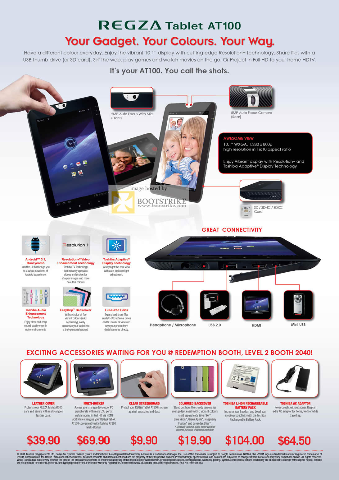 toshiba tablet regza at100 1003 specifications features comex 2011 rh itfairsg com toshiba thrive manual user guide Toshiba AT300
