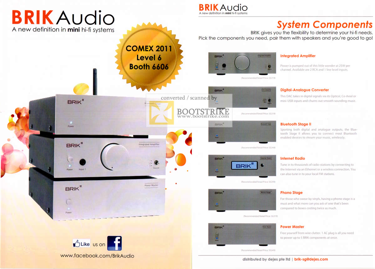 COMEX 2011 price list image brochure of IKnow Brik Audio Mini Hi-Fi System