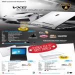 Notebooks Lamborghini VX6 Bang Olufsen ICEpower Audio Netbook Eee PC Seashell 1011PX 1015PX