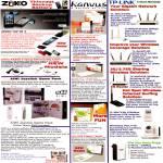 Zikko Tape In 4 AK200 Kanvus Tablet TP-Link Networking AIWI Life H85 HomePlug
