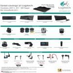 Logitech Ultimate Ears Earphones Keyboard Mouse Webcam Universal Remote Wireless K400 Solar K750 K800 Desktop M950 MX M185 M235 M325 QuickCam TripleFi