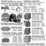 Video Support Rigs DV20C DV30C DV60C Gimbal Heads Ballheads Quicken S100 Backpack Urban Life Reebok Journo Ranger Pro White Collar Bags