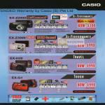 Casio Digital Cameras EX-Z2000 EX-Z3000 EX-H30 EX-G1