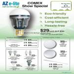 AZ E-Lite LED Light Bulbs Azcend Globe Azpand LFC Azpire Candle Spot Spotlight Lunar Azpress LCR Shell