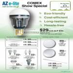 AZ E-Lite LED Light Bulbs Azcend Globe Azpand LFC Azpire Candle Spot Spotlight Lunar Azpress LCR Shell