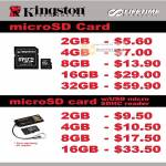 Kingston MicroSD Memory Card