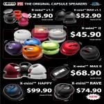 X-Mini Capsule Speakers V1.1 Max II MAX II Happy Rave