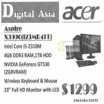 Acer Desktop PC X3990 I23MR41T