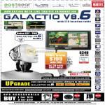 GPS Galactio V8.6 Holux 62F TMC LTA Location Table TMC Accessories Sun Visor Friction Mount AC Adaptor