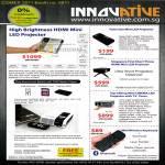 Innovative Mini LED Projector Palm Size HDMI Wireless Keyboard Bluetooth