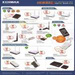 Edimax Router ADSL USB Adapter 3G Router Repeater Range Extender HomePlug WHDI Caster EW