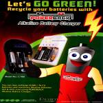 Powerback Alkaline Battery Recharger Charger G-988 Ni-MH Ni-Cd