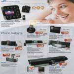 SonicGear Sonicspace IPhone IPod Speaker IP12 Time Machine IP8 IBall2 Porta2 DA 100i 150i 200i Sonic Array 1000