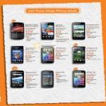 Phones BlackBerry Bold 9900, Samsung Galaxy S II, LG Optimus Black, Sony Ericsson Xperia Arc, HTC Sensation, LG Optimus 3D, Motorola Atrix, Nokia C6-01, EVO 3D