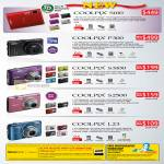 Digital Cameras Coolpix S100 P300 S3100 S2500 L23