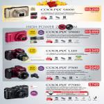 Digital Cameras Coolpix S8100 S9100 L120 P500 P7000