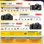 Digital Cameras DSLR D90 Kit D5100 D3100