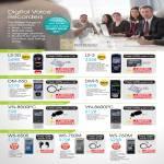 Digital Voice Recorders LS-20 LS-3 DM-650 DM-5 VN-8500PC VN-8600PC WS-650S WS-750M WS-760M
